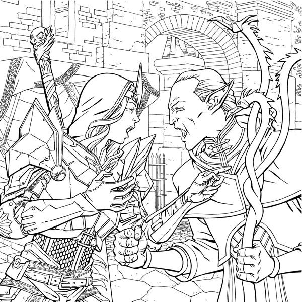 Dragon Age Adult Coloring Book Profile Dark Horse Comics