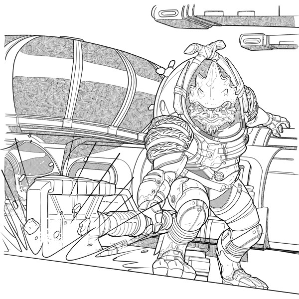 mass effect 3 coloring pages - photo#6