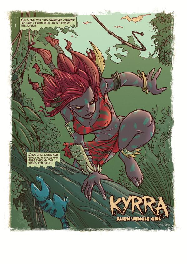 Kyrra Alien Jungle Girl Tpb Profile Dark Horse Comics