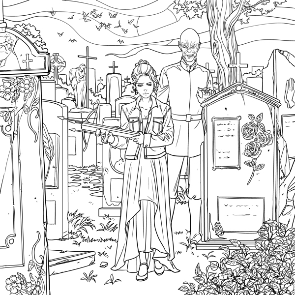 Buffy The Vampire Slayer Big Bads And Monsters Adult Coloring Book