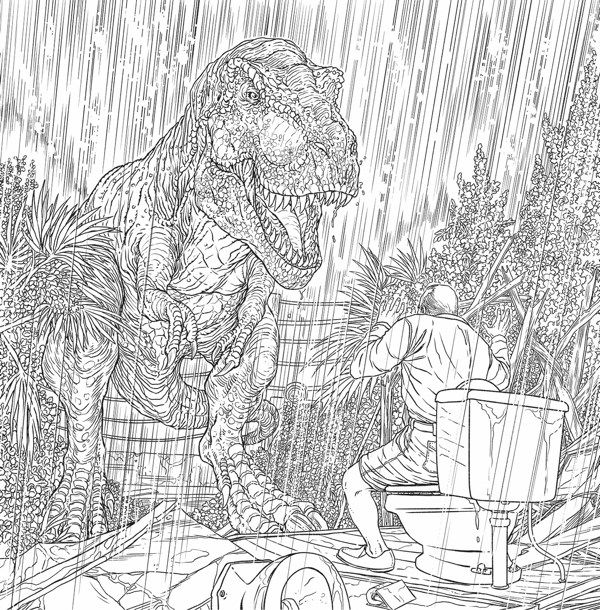 Jurassic Park Coloring Book TPB :: Profile :: Dark Horse ...