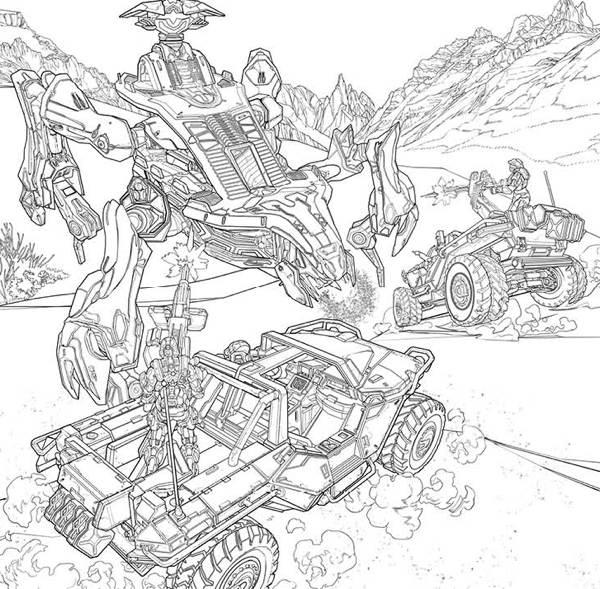 Halo Adult Coloring Book TPB :: Profile :: Dark Horse Comics