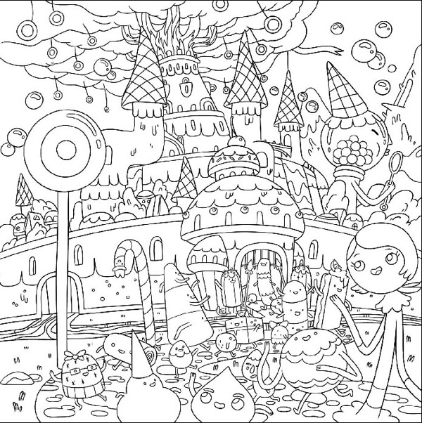 Adventure Time Coloring Book Volume 1 TPB :: Profile ...