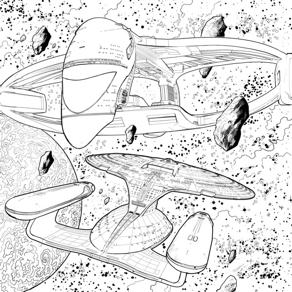 Star Trek: The Next Generation Adult Coloring Book :: Profile ...