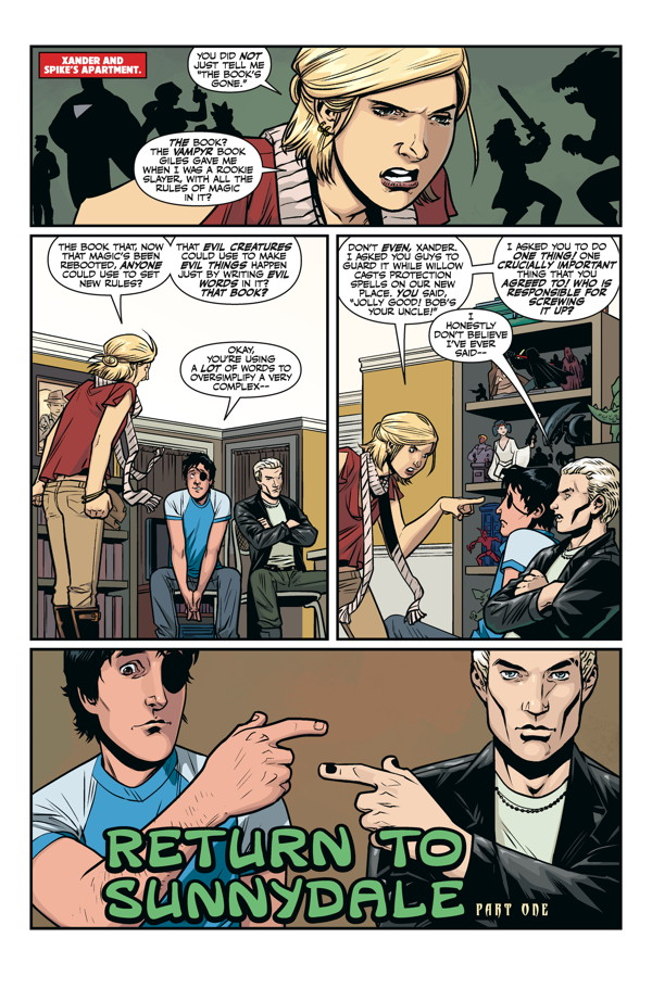 do spike and buffy meet in the comics