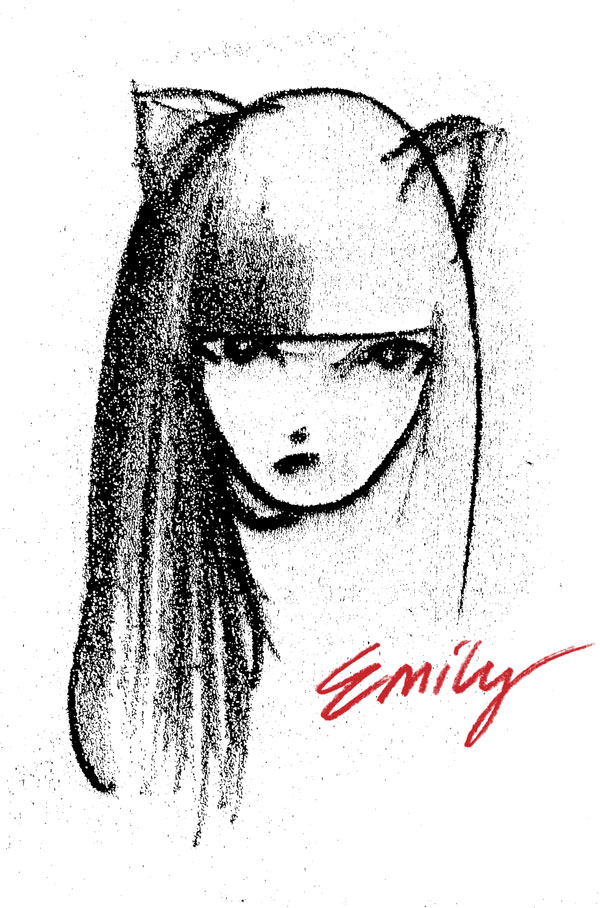 photograph about Emily Artful titled The Artwork of Emily the Odd HC :: Profile :: Dim Horse Comics