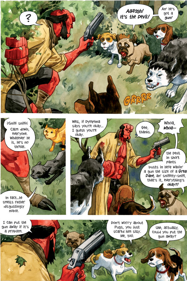 beasts of burden hellboy one shot jill thompson cover profile