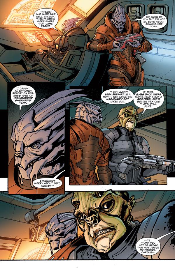 Mass Effect Redemption 1 Profile Dark Horse Comics