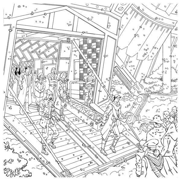 coloring pages sites | Serenity Adult Coloring Book TPB :: Profile :: Dark Horse ...