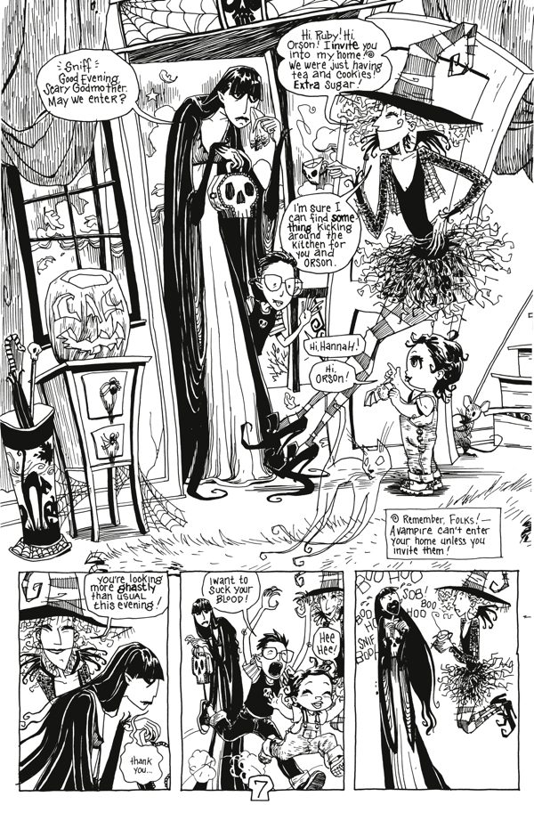 Scary Godmother Comic Book Stories Tpb Profile Dark