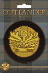 Outlander Embroidered Patch: Crown & Thistle