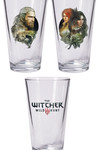 Witcher 3: The Wild Hunt Pint Glass Set: Geralt and Triss with Yennefer