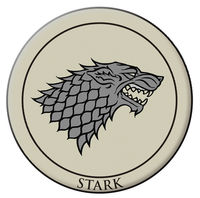 Game of Thrones Embroidered Patch: Stark