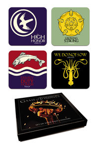 Game of Thrones Coaster Set: House Sigils Season 2