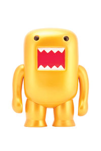 "Domo 4"" Metallic Vinyl Figure: Gold"
