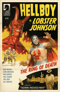 Hellboy vs. Lobster Johnson in: The Ring of Death one-shot