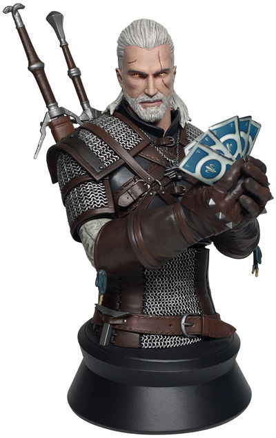 Witcher 3: Wild Hunt - Geralt Playing Gwent Bust