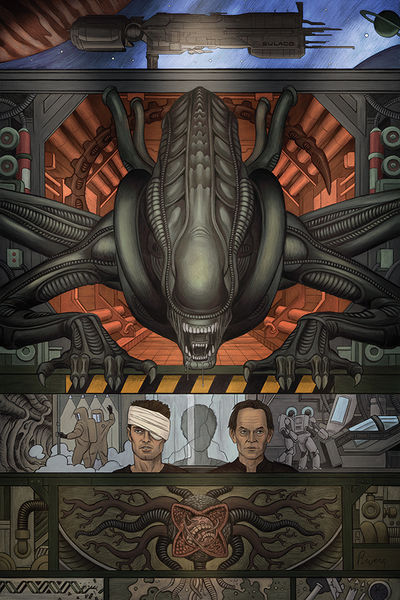 William Gibson's Alien 3 #1 (Paulo Rivera and Joe Rivera Variant Cover)