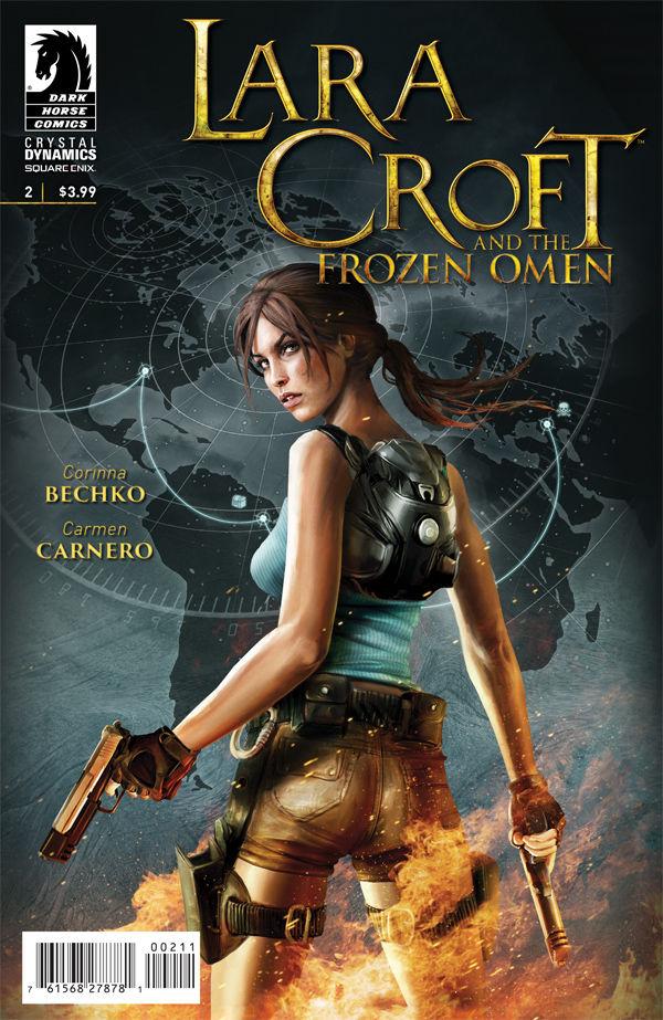 Lara croft and a horse