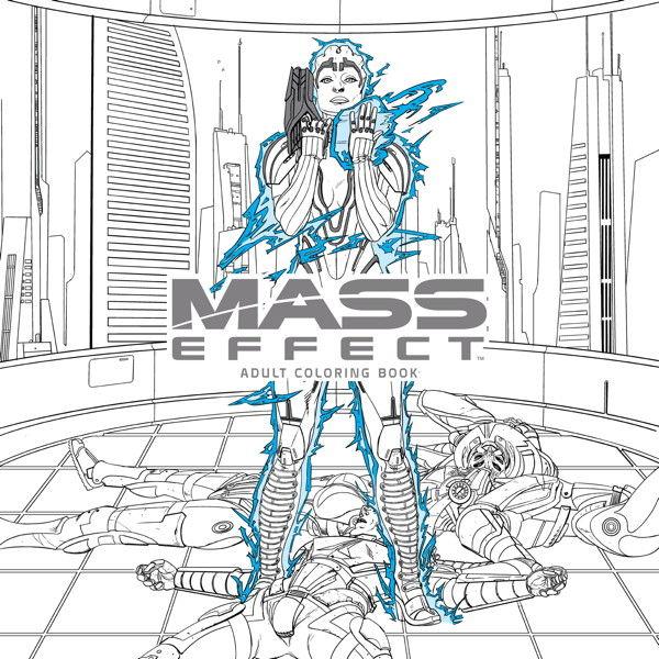 Mass Effect Adult Coloring Book TPB Profile Dark Horse Comics
