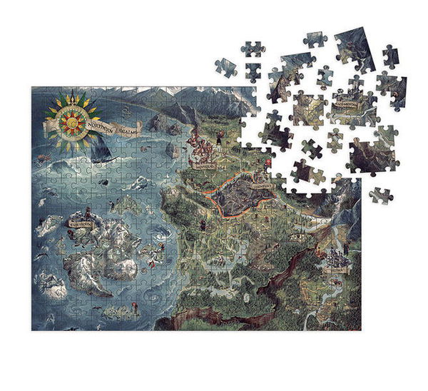 The Witcher 3 - Wild Hunt Puzzle: Witcher World Map :: Profile ...