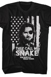 Escape From New York Snake Flag Black T-Shirt MED