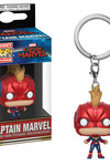 Pop Keychain Marvel: Captain Marvel - Captain Marvel w/ Helmet