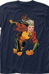 X-Men Rogue Previews Exclusive Navy T-Shirt LG