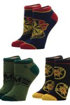 Captain Marvel 3pk Ankle Socks