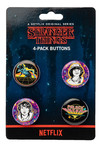 Stranger Things Palace Arcade 4pk Pin Set