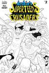 Archies Superteens vs Crusaders #2 (Cover B - Dave Williams B&W)