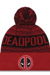Marvel Deadpool Wintery Pom Knit Beanie