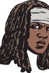 Walking Dead Michonne Face Pin