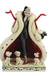 Disney 101 Dalmatians Cruella With Puppies 8.2in Figurine