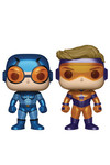 Pop DC Heroes Booster Gold & Blue Beetle Metallic Vinyl Figures 2-Pack Previews Exclusive