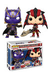 Pop Games Marvel v Capcom Black Panther vs Monster Hunter Figure 2-Pack