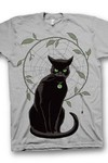 Black Magick Hawthorne Cat T-Shirt MED