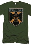 Suicide Squad Task Force Shield Previews Exclusive Military Green T-Shirt XL