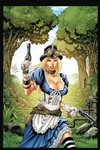 Grimm Fairy Tales Steampunk Alice in Wonderland Coloring Book Ed
