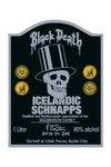 Sin City Movie Tin Sign: Black Death Icelandic Schnapps