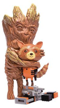 Guardians of the Galaxy Rocket And Groot Treehugger 9IN Collectible Vinyl Figure