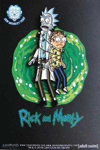 Rick and Morty Tangled in Xmas Lights Pin
