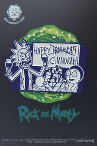 Rick and Morty Happy Chanukah Pin
