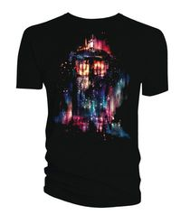 Doctor Who Alice X Zhang Sublimation Tardis Previews Exclusive Black T-Shirt LG