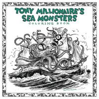 Tony Millionaire Sea Monster Coloring Book SC