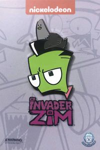 Invader Zim Pigeon on Head Pin