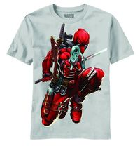 Deadpool Brace Yourself Silver Previews Exclusive T-Shirt MED