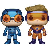 Pop DC Heroes Booster Gold & Blue Beetle Previews Exclusive Vinyl Figures Metallic 2-Pack