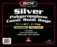 Silver Thick Resealable Bag 100 pack
