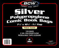 Silver Thick Bag 100 pack